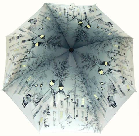 Купить онлайн Зонт складной Guy de Jean 6414 Balade au crépuscule в магазине Зонтофф.