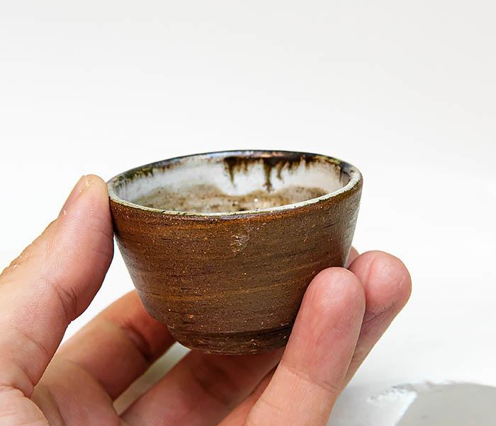 CUP109 Глиняная пиала ручной работы фото 07