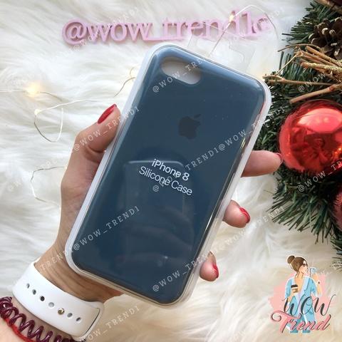 Чехол iPhone 7/8 Silicone Case /cosmos blue/ космос original quality