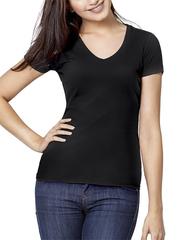 7575-7 футболка женская, черная