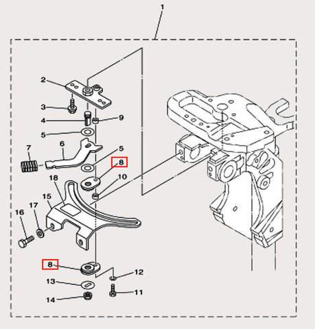 Антифрикционная пластина для лодочного мотора F9,9 Sea-PRO (18-8)
