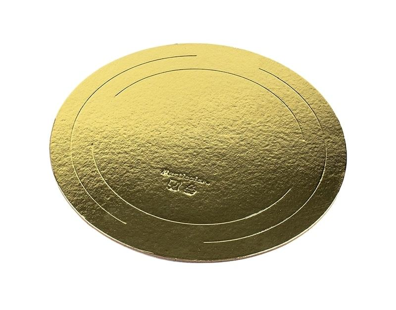 Подложка усиленная односторонняя, 2,5 мм (золото), диаметр 30 см