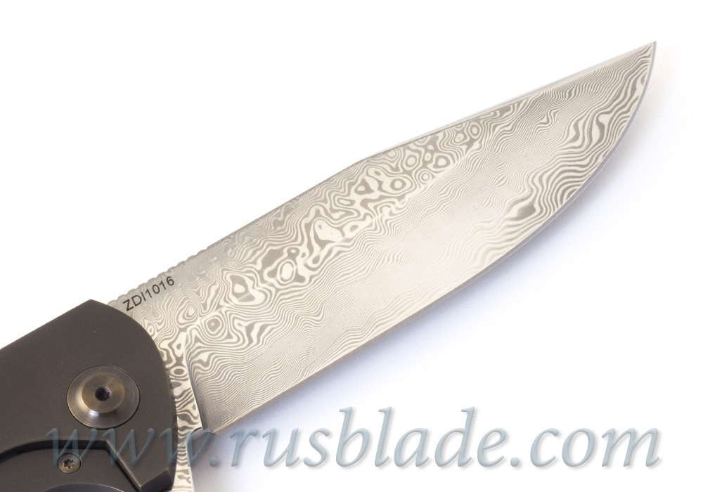 Cheburkov Wolf 2019 Damascus Folding Knife
