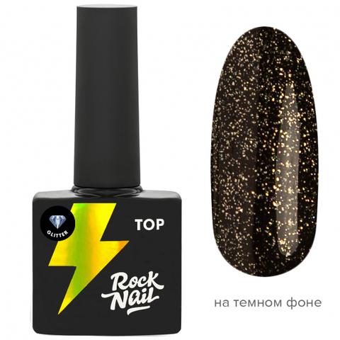 Топ RockNail Glitter Top (10 мл.)