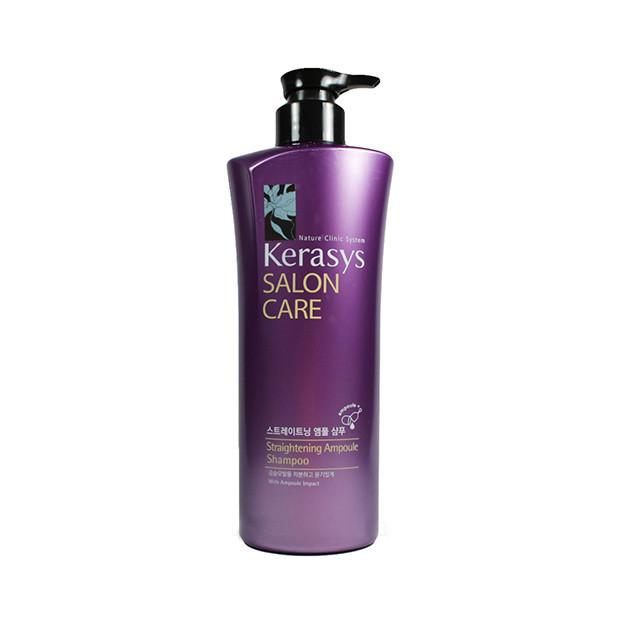 KeraSys Шампунь для волос Гладкость и блеск Salon Care Straightening Ampoule Shampoo, 470 мл