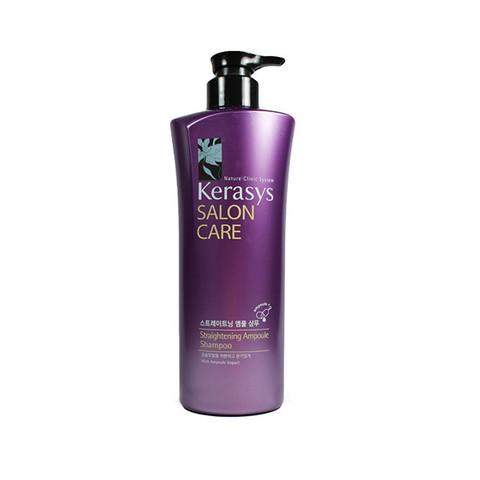 Шампунь для волос KeraSys Salon Care Straightening Ampoule Shampoo ампульный шампунь «Гладкость и блеск», 470 мл