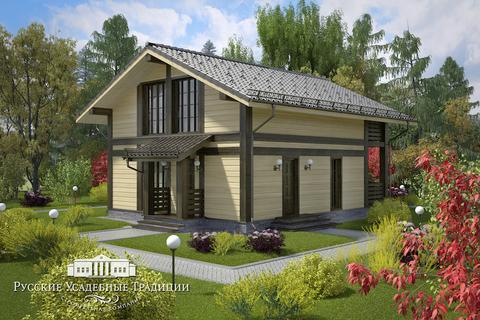 """Двухэтажный каркасный дом """"Куртуа"""" 117 кв.м. без террасы и балкона"""