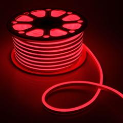 Гибкий неон 8х16 мм, светодиодный | Красный - 25м