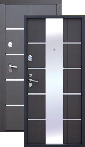 Сейф-дверь входная Цитадель Alta Tech, 2 замка, 2 мм  металл, (венге+венге)