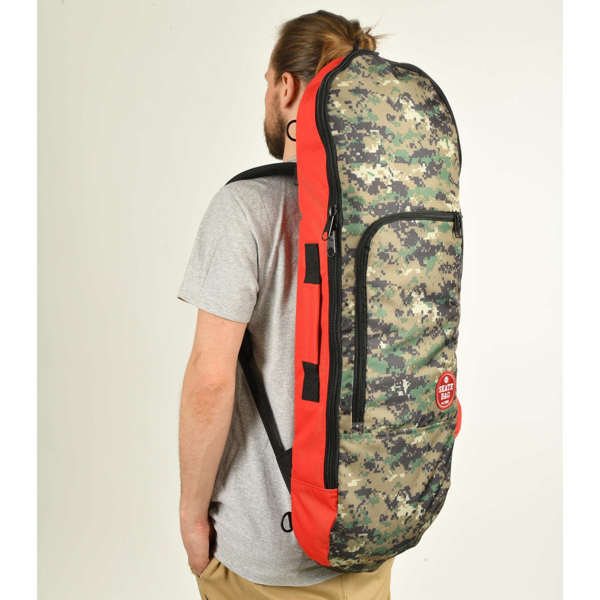 Чехол для скейтборда SKATE BAG Trip (Red/Camo Pix)