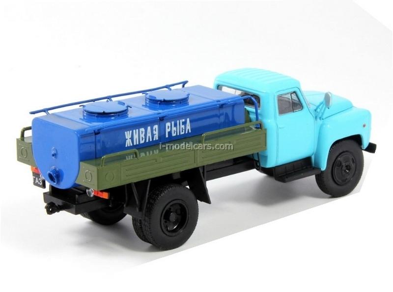 GAZ-53 Tanker Delivery Live Fish USSR 1:43 DeAgostini Service Vehicle #77