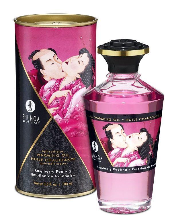 Массажные масла и свечи: Массажное интимное масло с ароматом малины - 100 мл.