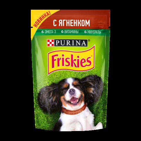 Friskies Консервы для взрослых собак с Ягненком в подливе (Пауч)