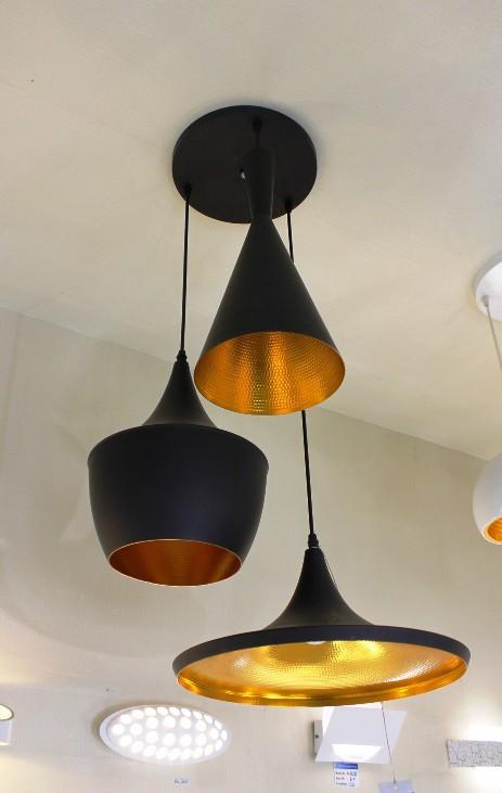 Replica Tom Dixon Beat Light 3 Pendants Black