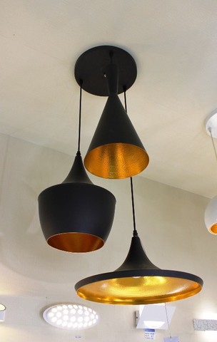 Replica Tom Dixon Beat Light 3 pendants  (black)