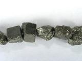 Бусина из пирита, фигурная, 8x10 - 8x10 мм (природная форма)