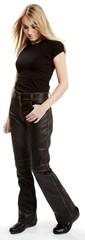 Мотобрюки кожаные женские Sweep Bootcut