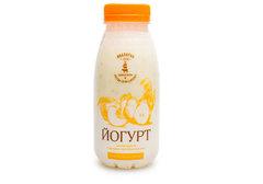 Йогурт с персиком-грушей-злаками