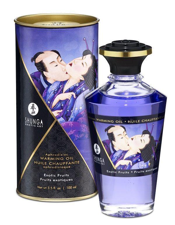 Массажные масла и свечи: Массажное интимное масло с ароматом экзотических фруктов - 100 мл.