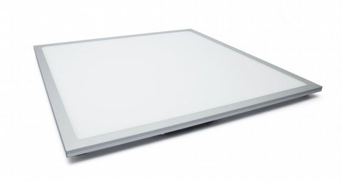 Ультратонкая светодиодная панель серии СВО 595х595, 40 Вт, 6000 К, хром, Народная