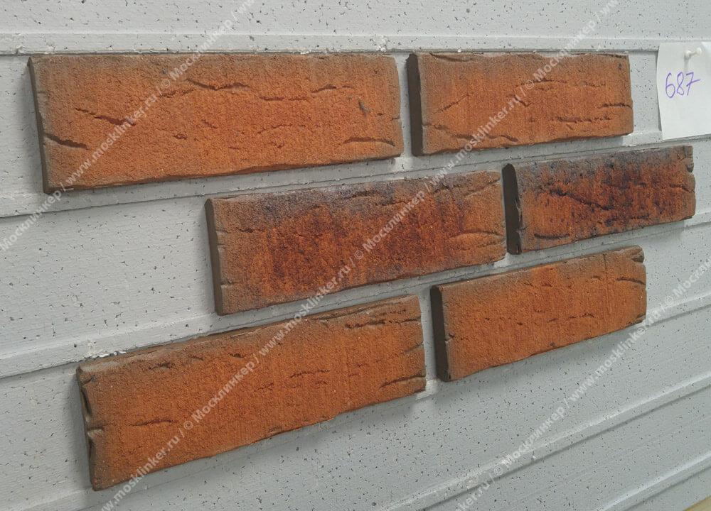 Плитка-клинкер под кирпич Feldhaus Klinker, Sintra, R687NF14, ручная формовка, terracotta linguro