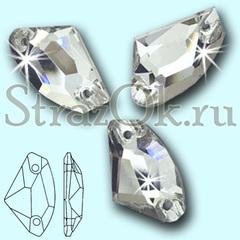 Стразы пришивные стеклянные Galactic Crystal, Галактика цвет Кристал, прозрачный яркий на StrazOK.ru