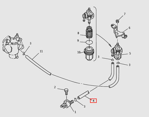 ШлангL150 для лодочного мотора T9.8 Sea-PRO (6-4)