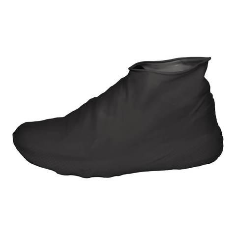 Многоразовые бахилы черные Shoescondom (тонкий силикон)