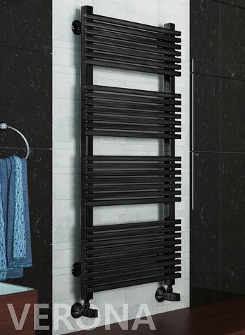 Verona Black -  черный дизайн полотенцесушитель