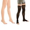 Чулки мужские с силиконовой резинкой, плотные, с открытым носком