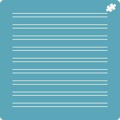 Трафарет Тетрадный лист (набор)