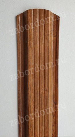 Евроштакетник металлический 115 мм Орех 3D П - образный двусторонний 0.5 мм