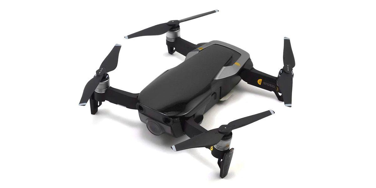 Квадрокоптер DJI MAVIC AIR (EU) Onyx Black сверху сбоку