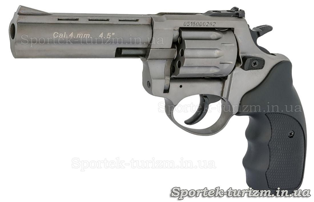 Револьвер Сталкер под патрон флобера 4мм серебристый.