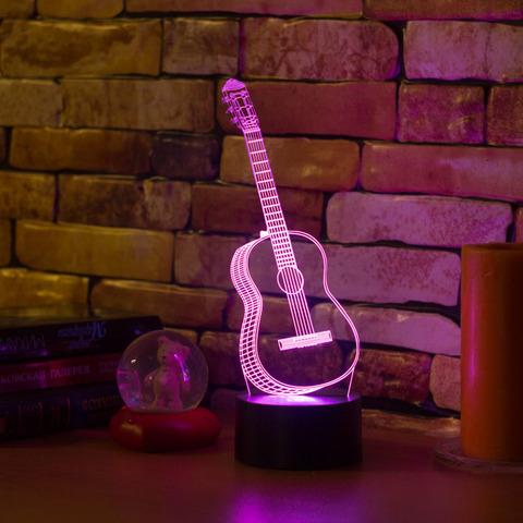 3D светильник Гитара