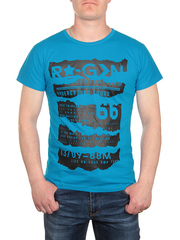 0719-2 футболка мужская, синяя