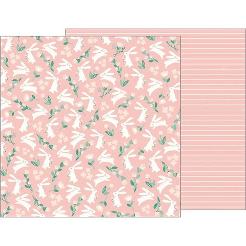 Лист двусторонней бумаги 30х30 см  - Night Night Baby Girl-Pebbles