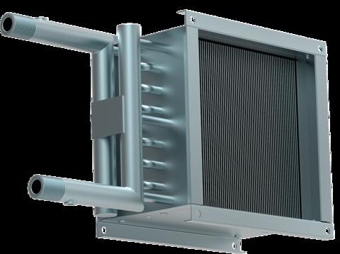 Водяной нагреватель для прямоугольных каналов WHC 150*150-2