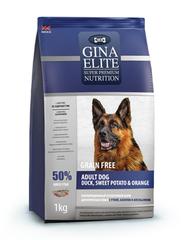 Корм для собак Gina Elite Adult Dog беззерновой, утка, батат, апельсин