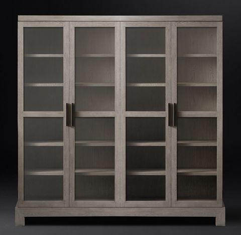 Camino Glass 4-Door Cabinet