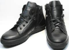 Модные зимние ботинки в виде кроссовок мужские Ikoc 1608-1 Sport Black.