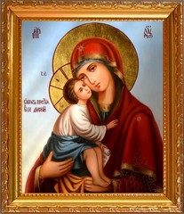 Донская икона Божией Матери на холсте.