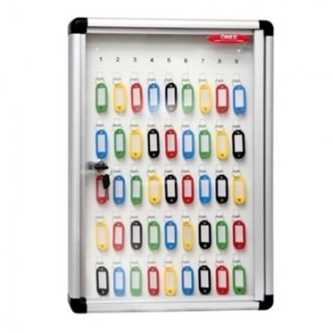 Метал.Мебель ONIX шкаф для ключей К-45, стекло, ключ.замок, 340x47х480
