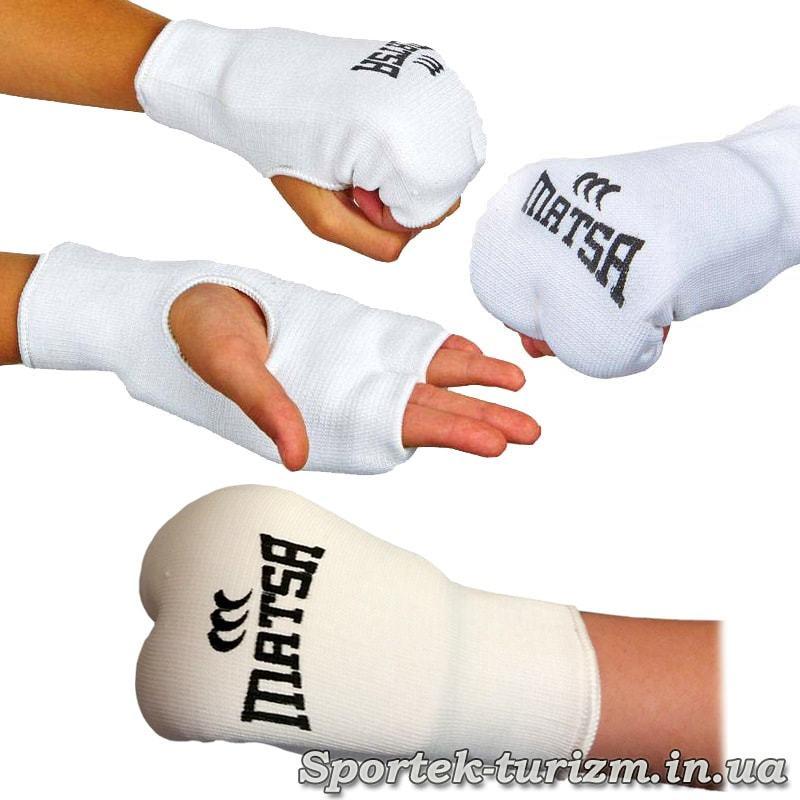 Защита кисти (накладки) для каратэ Matsa на руке