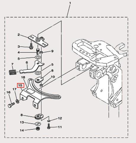 Держатель блока блокировки для лодочного мотора F9,9 Sea-PRO (18-15)