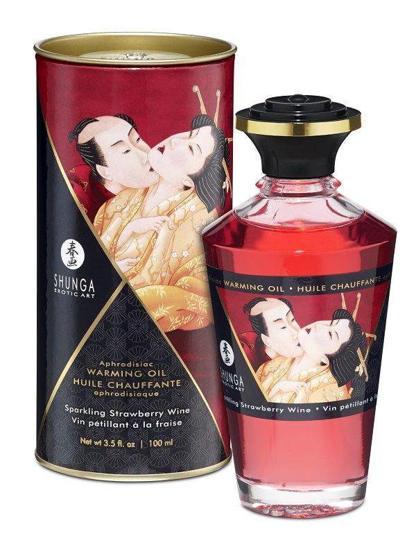 Массажные масла и свечи: Массажное интимное масло с ароматом клубничного вина - 100 мл.