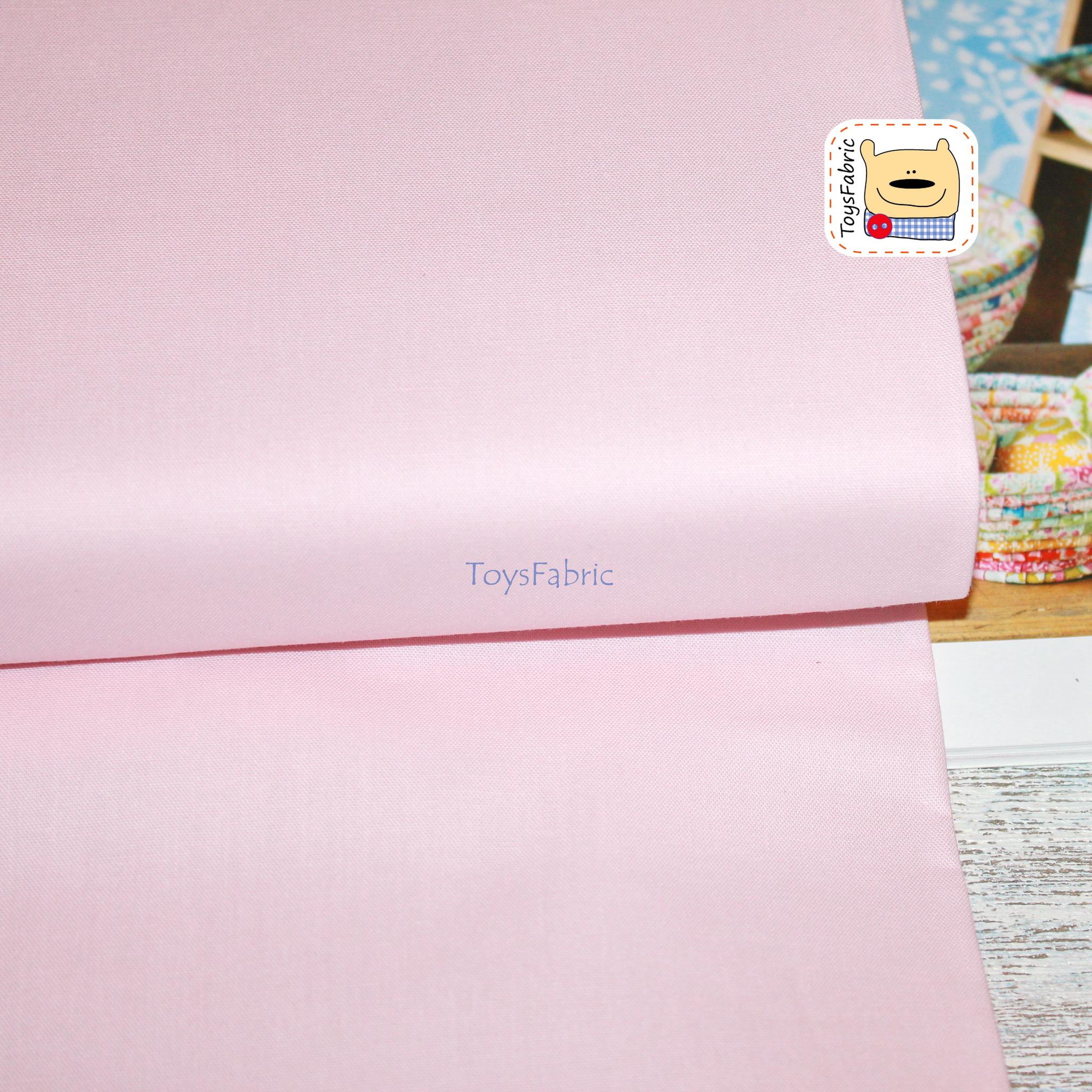 Ткань для пэчворка 20820 корейский хлопок (однотонный бледно-розовый) 45х55см