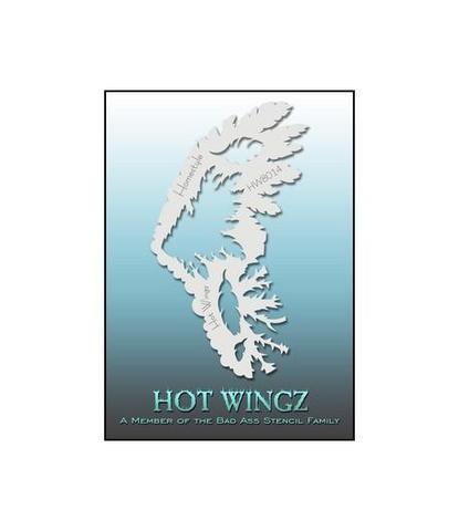 Трафарет Hot wings 8014
