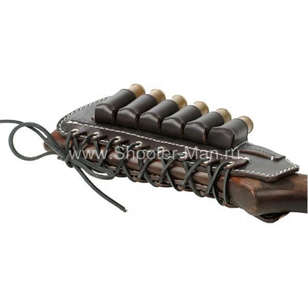 Патронташ на приклад WESTERN под 6 патронов (12-16 кбр ) Стич Профи