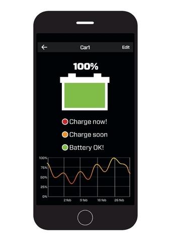 Android и iOS монитор состояния АКБ CTEK CTX BATTERY SENSE